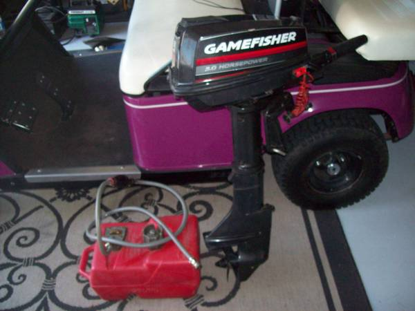 Gamefisher 5.0 HP outboard motor w gas tank - $250 (Katy)