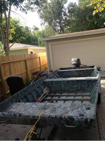 18X48 ALUMACRAFT 1996 25 JOHNSON - $3200 (Santa Fe)