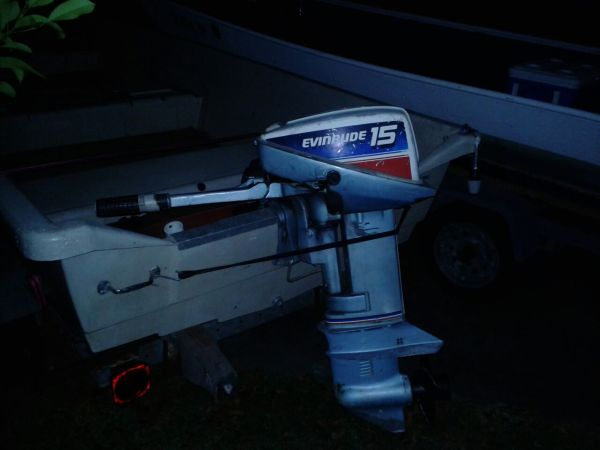 14 Gamefisher boat w15hp Evinrude and Trailer - $900 (Angleton)