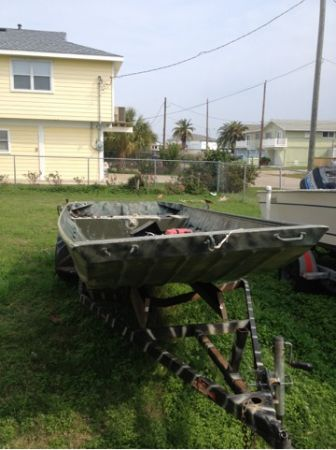 16 foot allweld extra wide jon boat - $2500 (Galveston )