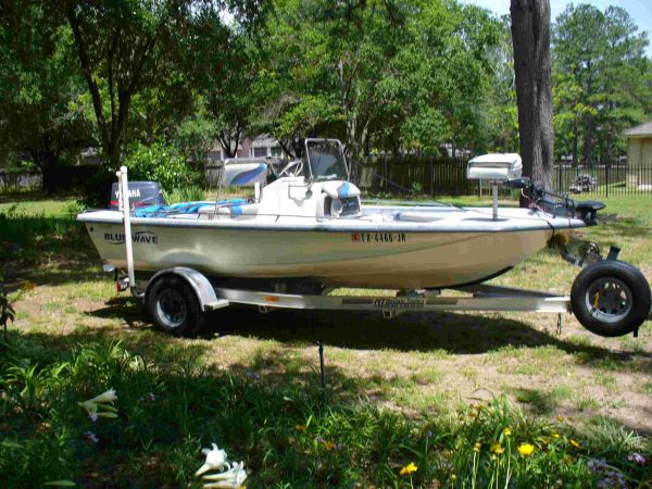 2002 Blue Wave 180 Bay Boat - $9800 (Humble)