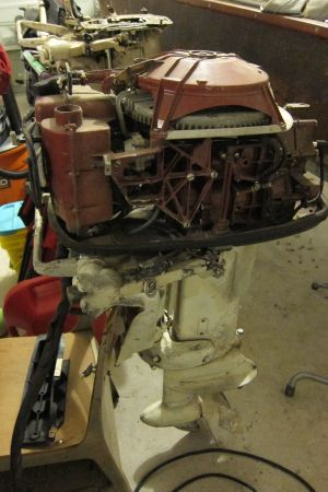 Vintage 1956 30 HP Johnson Javelin Outboard Parts (Spring Tx)
