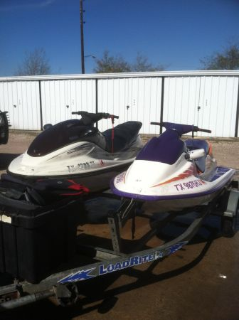 2 jets skis, wave runner, jet ski and double trailer $3000 - $3000