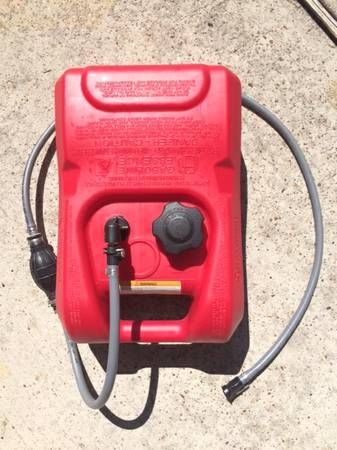 BOAT GAS TANK NEW COMPLETE WITH HOSE AND BULB -   x0024 60  conroe