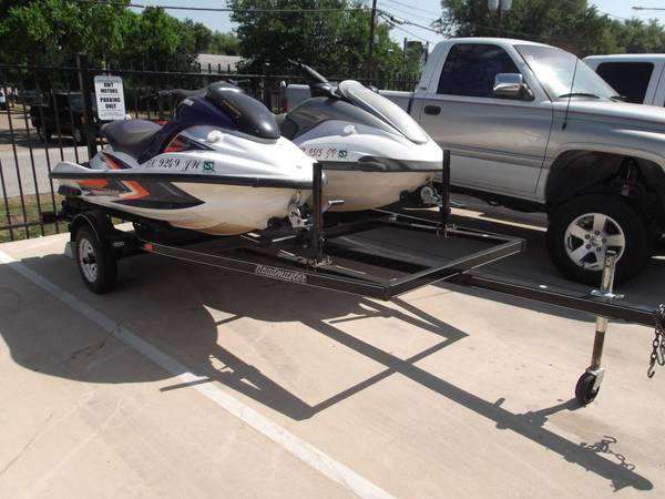 TWO WAVERUNNERS W  TRAILER YAMAHA 2002 FX140  amp  2003 GP1300R JET SKIS -   x0024 6500  nw houston