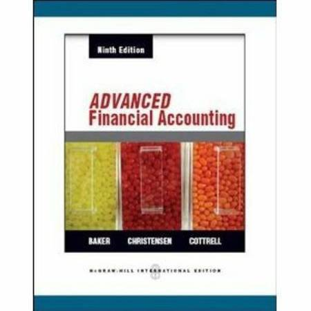 Advanced Financial Accounting-9th Ed-Baker-UHD - $50 (Clear Lake Area)