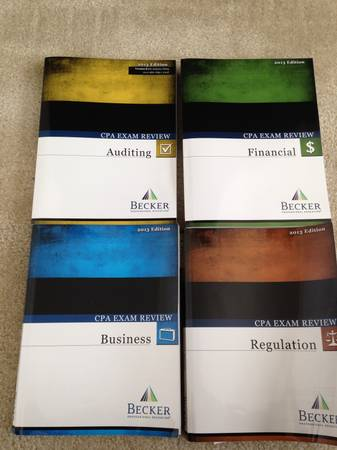 2013 Becker CPA exam books - $1100 (Cypress)