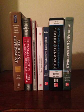 UH Engineering Textbooks - $1 (Sugar Land TX)