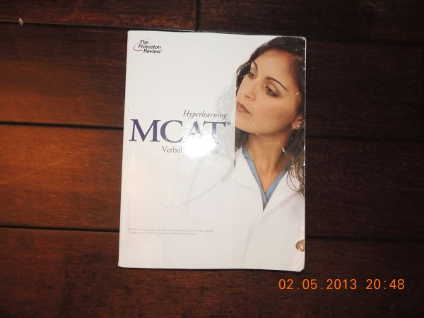 Princeton Review Hyperlearning MCAT Verbal Workbook 2010 Edition - $30 (League CityGalvestonHouston)