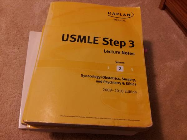Kaplan USMLE step 3 Lecture Notes - 2010 edition - $130 (willow brook area)