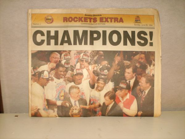 ROCKETS WIN 1994  5 Chronicle - $25 (Southside PlaceBellaire)