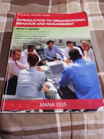 Textbook for MANA 3335 at UH - $40 (Houston)