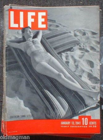 LIFE MAGAZINE JANUARY 13 1941 or August 10, 1942 - $25 (WoodlandsSpringGReenspoint)