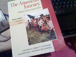 UH History 1377 textbook The American Journey - $40 (UHSugar LandMissouri City)