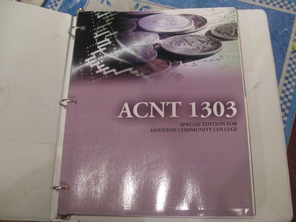 HCC Accounting 1303 Textbook - $80 (99 Kingsland, Katy)