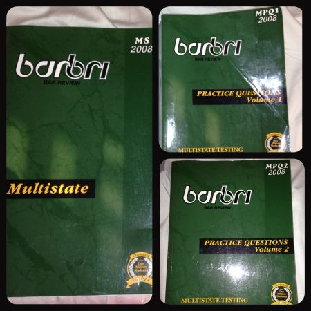 BARBRI Multistate Question Books  Outline 2008 - 2009 - $30 (Heights)