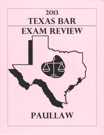 Texas Bar Exam Review - use with Barbri PMBR - $50 (Coral Gables, FL)