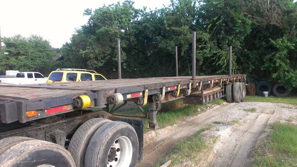 1987 Fontaine 45 ft. flatbed trailer - $5000 (Channelview, Texas)