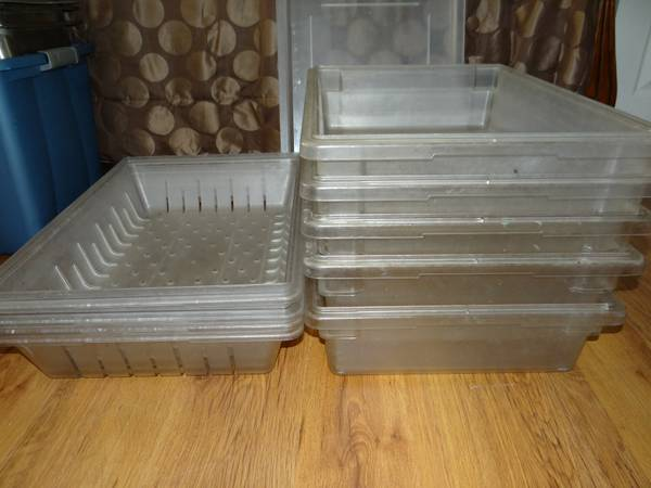 lexan bulk food storage containers with lids and lexan drip pans - $15 (pearland)