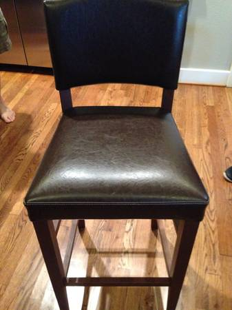 Chocolate leather barstools Pier One - $100 (Heights)