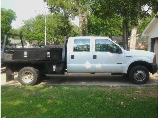 2005 FORD F350 SLHD DIESEL CREW CAB WUTILITY BED - $13500 (WEST HOUSTON)