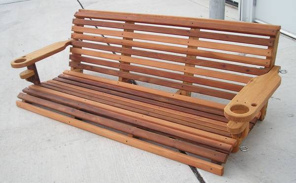 Classic Cedar Porch Swing - Custom Engraved - $275 (Richmond, Texas)