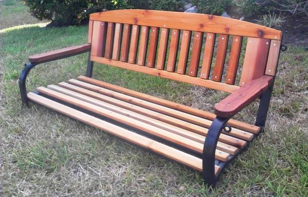4 Metal and Cedar Porch Swing - $175 (Richmond, Texas)