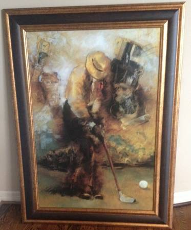 Large Decorative Golf Picture - Really Nice - $125 (Fulshear Katy)