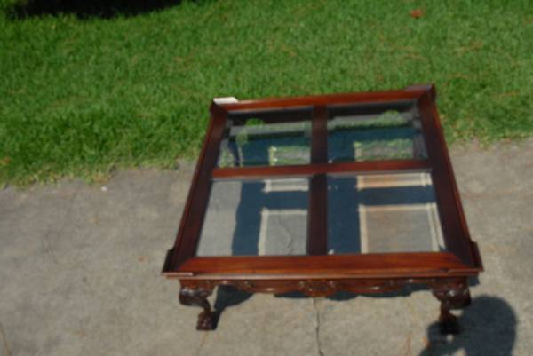 COFFEE TABLE GLASS AND WOOD - $45 (SOUTHWEST)