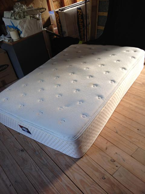 $250, Full size frame, Serta Mattress and box spring. GREAT deal for college student