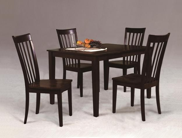 275  Espresso color Table set with 4 chairs New in Box