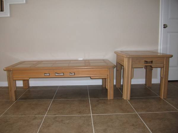 Southwest Coffee and Side Table - $40 (Katy)