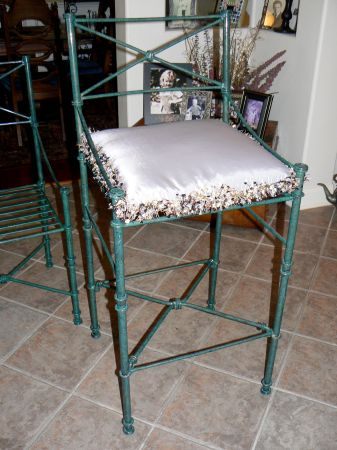 Wrought Iron Bar Stools Pier 1 For Sale