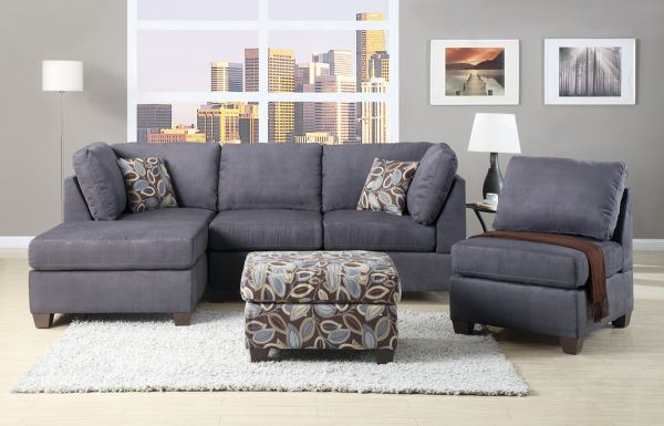 $599 CHARCOAL SECTIONAL SOFA - $599 (Financing Available. Order Now)
