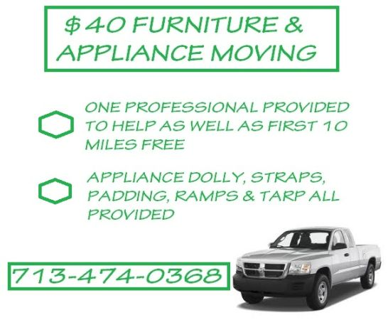 MOVING MATTRESSES COUCHES APPLIANCES FOR $40 - $1 (HOUSTON PEARLAND)