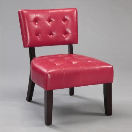 RED BEVERLY ACCENT CHAIR - $115 (J J Furniture )