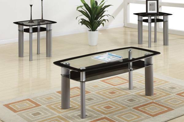 Sleek Ultra Modern Contemporary Coffee Table with 2 End Tables, NEW - $250 (Southwest Delivery Available)
