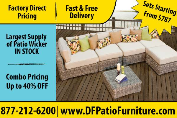Outdoor Patio Wicker Furniture For Sale  Perfect Condition (Houston)