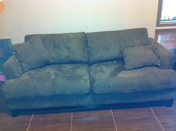 Rooms to Go - Cindy Crawford Microfiber Brown Couch (1) - $350 (Central Houston)
