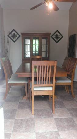 Dinning Table and China with 6 chairs  - $450 (45 North Gulfbank)