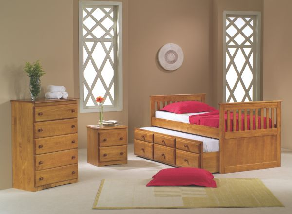 SOLID WOOD Captains Bed wTrundle STORAGE - $305 (HOUSTON)