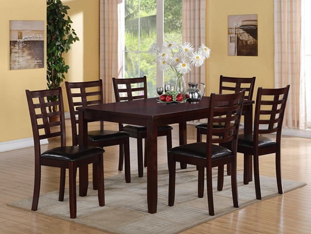 425  Dining table set with 6 chairs New in Box