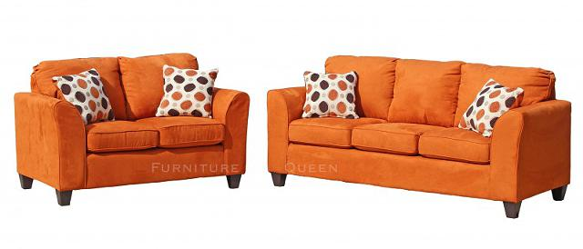 $499, 2pc burnt orange sofa set limited quantity