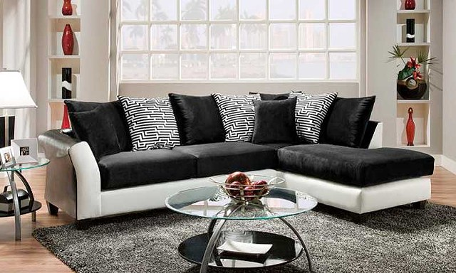 $575, New in Box Comfortable Zebra Sectional Couch