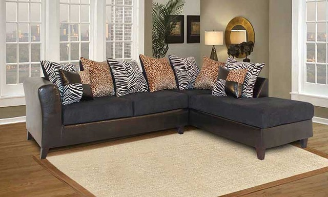 $575, New in Box Luxury Zebra Sectional Couch