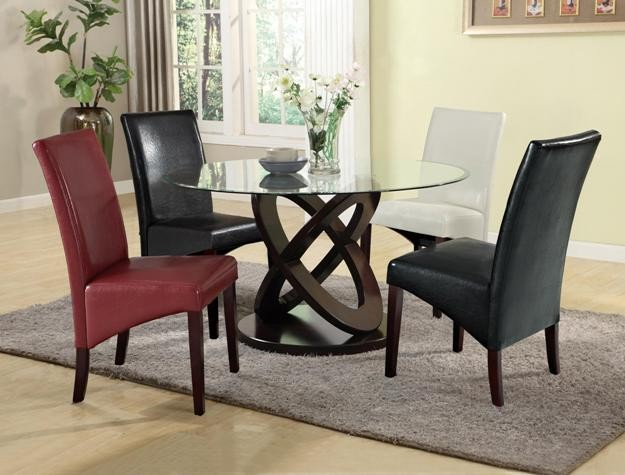 575  Round Glass Dining Table Set New in Box