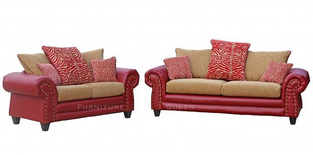 $599, Red mocha sofa sets New