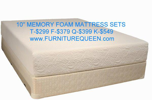 Memory foam mattress set sale