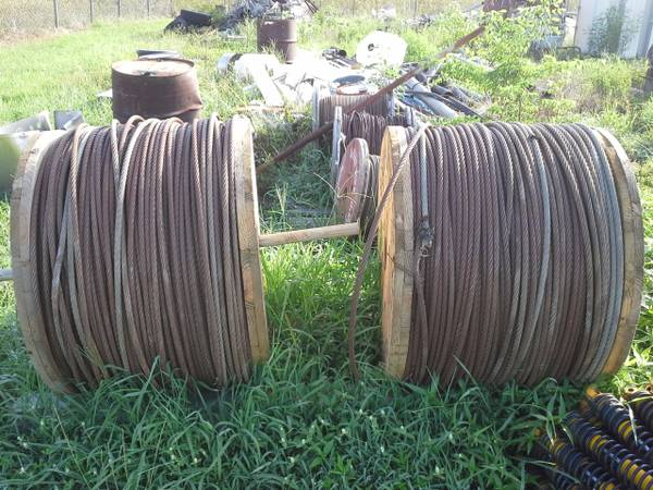 58 Old Galvanized Cable, 3,700 Feet x2 - $350 (Cleveland)