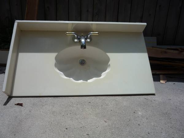 Bath Vanity Tops (2), used cultured marble, 40.5 57 Long - $50 (Memorial Highway 6)